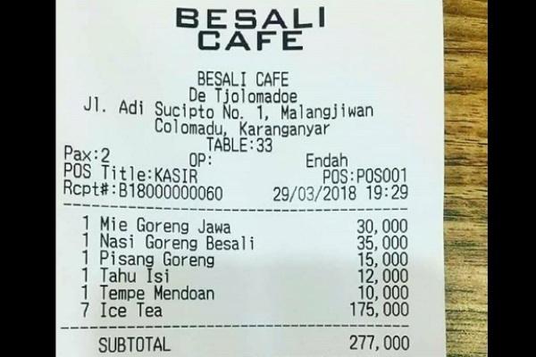 Beli Es Teh Di Kafe Kena Bayar Rp175 000 Foto Struknya Viral Di
