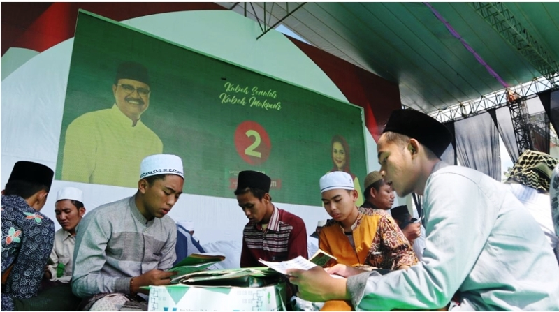 Ribuan Hafidz dan Hafidzah Doakan Kemenangan untuk Gus Ipul-Mbak Puti di Jember