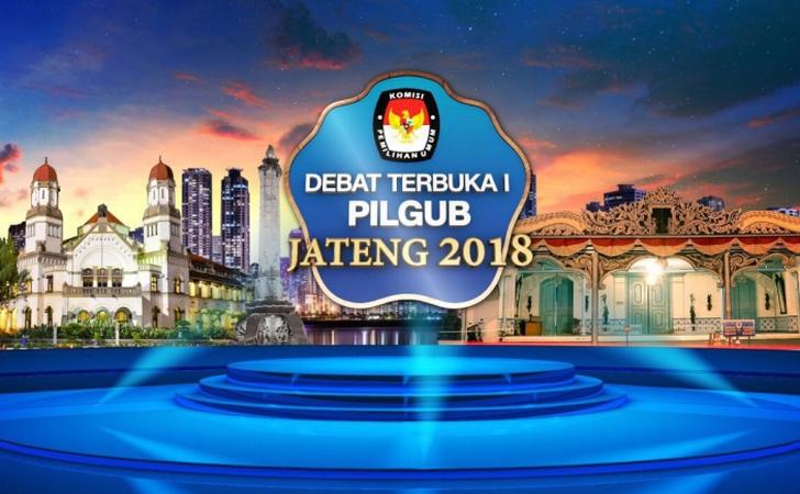 Ganjar-Yasin & Sudirman-Ida Bertarung di Debat Perdana Pilgub Jateng Malam Ini