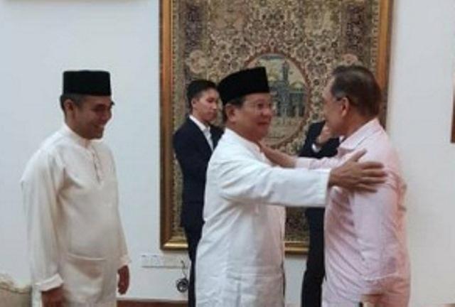 Anwar Ibrahim bertemu prabowo