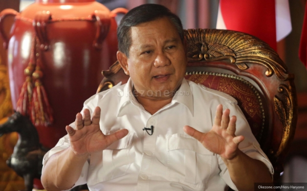 Prabowo: Saya Yakin Aswari-Irwansyah Akan Bekerja Keras untuk Rakyat Sumsel