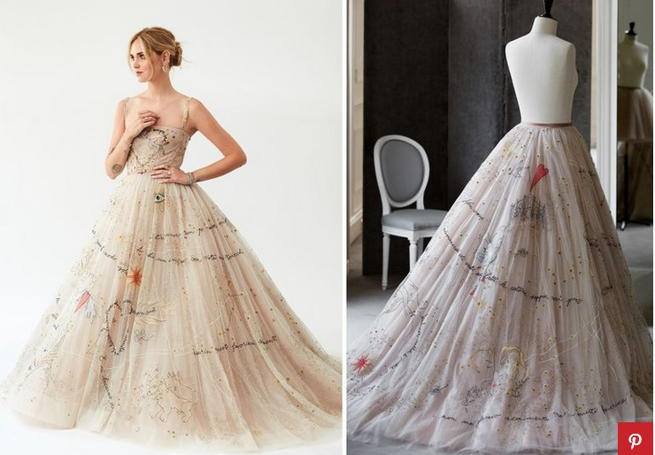Cantiknya Gaun Pengantin Chiara Ferragni Yang Dirancang Khusus Oleh