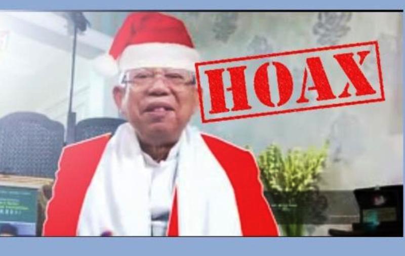 Beredar Video Editan Ma'ruf Amin Ucapkan Natal Gunakan
