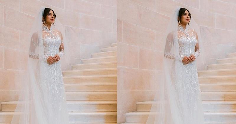 Terungkap Reaksi Priyanka Chopra Saat Mengenakan Gaun Pernikahan