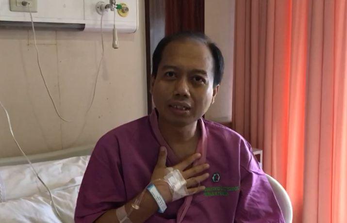 tubuh Sutopo seperti tak mengalami masalah. Namun, nyatanya kanker di paru-parunya terus menggerogoti tubuhnya.