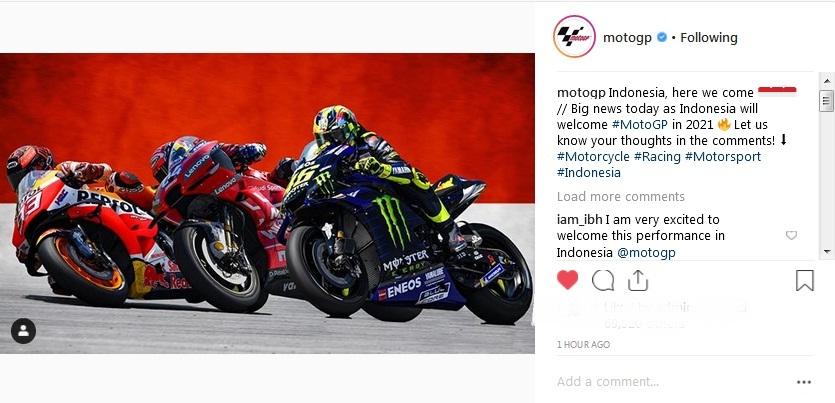 Resmi Masuk Kalender 2021 Masyarakat Indonesia Langsung Banjiri Kolom Komentar Instagram Motogp Okezone Sports