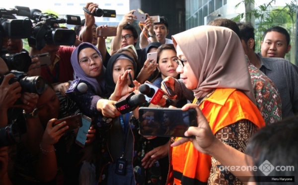KPK Periksa Eni Saragih Terkait Pengembangan Kasus Suap PLTU Riau-1 : Okezone News