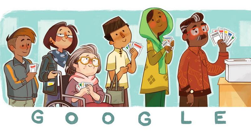 Usung Tema Pemilu, Google Doodle Rayakan 'Indonesia Elections 2019' : Okezone techno
