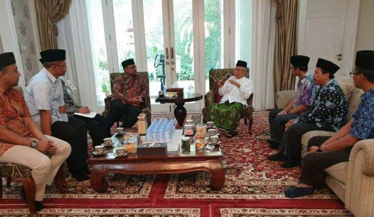 Image result for Jajaran PP GP Ansor menemui Ma'ruf Amin