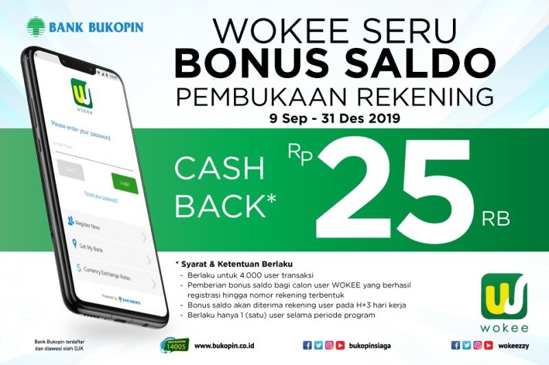 BBKP Wokee Seru Bonus Saldo Pembukaan Rekening Rp25 Ribu : Okezone Economy