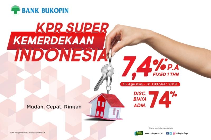 BBKP KPR Bukopin Super Kemerdekaan Indonesia Bunga 7.4% dan Diskon Biaya Administrasi 74% : Okezone Economy