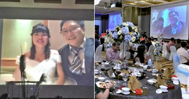 https: img.okezone.com content 2020 02 07 481 2164670 khawatir-virus-korona-pasangan-ini-hadiri-pesta-pernikahannya-sendiri-lewat-video-streaming-f0B1f2cEmY.jpg
