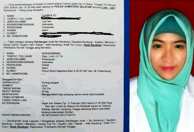 Dokter Muda Dilaporkan Hilang Usai Pamit Ke Lampung Okezone News