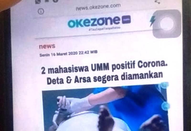 https: img.okezone.com content 2020 03 17 337 2184739 diserang-hoaks-okezone-tak-pernah-beritakan-2-mahasiswa-umm-positif-corona-0cIVoOCzzU.jpg
