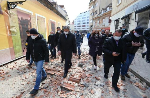 Warga Zagreb Kroasia Tetap Diminta Social Distancing Di Tengah Bencana Gempa Okezone News