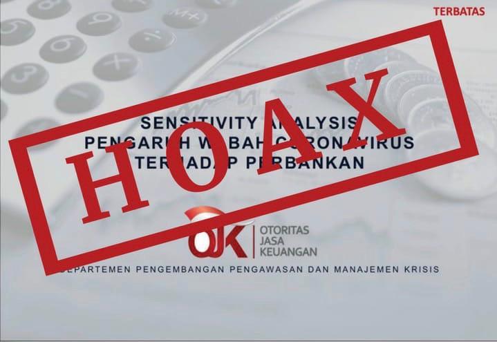 Beredar Informasi Analis Kondisi Perbankan Akibat Covid 19 Ojk Hoax Okezone Economy