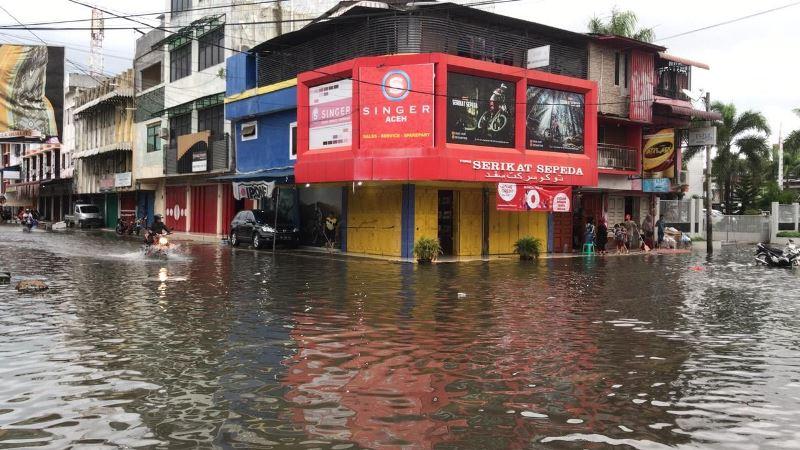Banjir Rendam Sejumlah Wilayah Di Kota Banda Aceh Okezone News