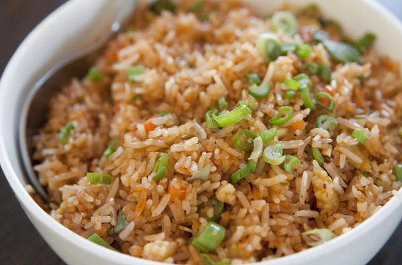 menu buka puasa sehat nasi merah gurih