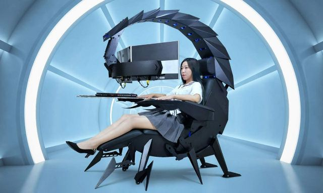 https: img.okezone.com content 2020 09 15 16 2278402 tampil-beda-kursi-gaming-ini-mirip-robot-kalajengking-PJj69mxJ8k.jpg