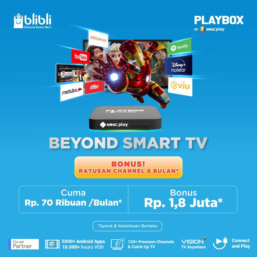 IPTV Cek Android TV MNC Group Playbox di Blibli! Bisa Dicicil Rp70.000 Bulan : Okezone Economy