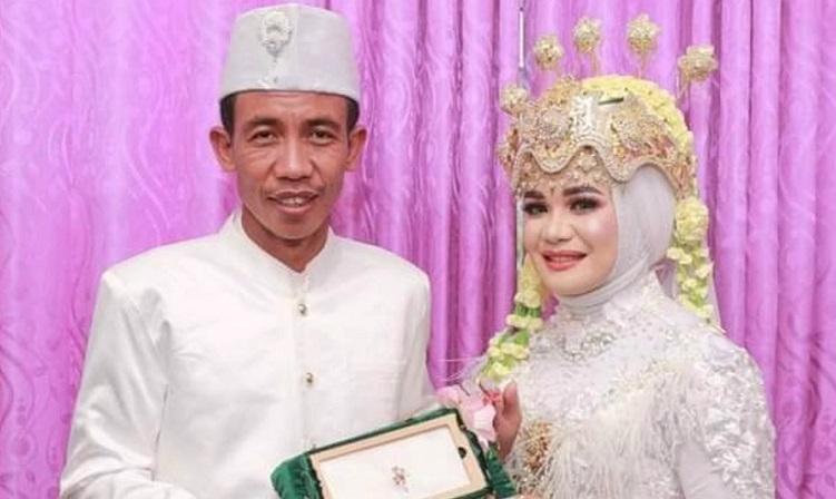 Viral Pengantin Pria Di Lombok Timur Mirip Presiden Jokowi Okezone News