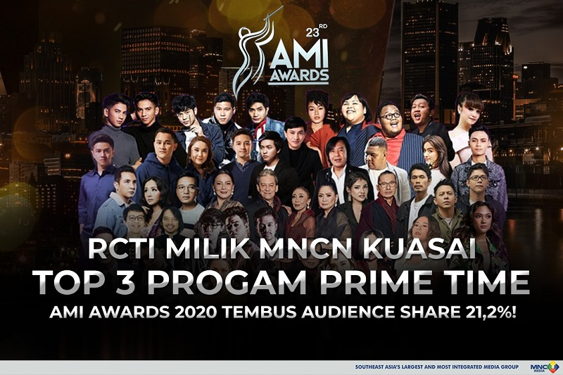 RCTI Kuasai Top 3 Program Prime Time, AMI Awards 2020 Tembus Audience Share 21,2 Persen