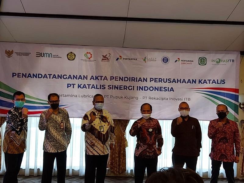Sah, Pertamina, Pupuk Kujang dan ITB Bentuk PT Katalis Sinergi Indonesia : Okezone News