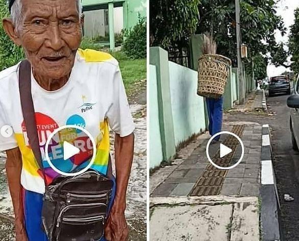 Viral Kakek Penjual Sapu Lidi Kena Jambret, Warganet Meradang : Okezone News