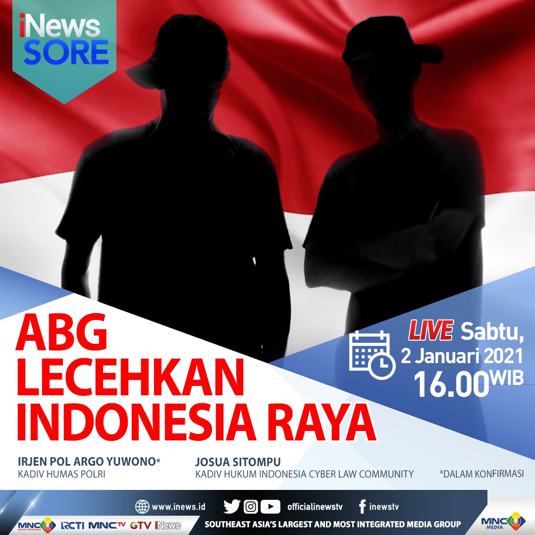 https: img.okezone.com content 2021 01 02 337 2337708 inews-sore-live-di-inews-dan-rcti-sabtu-pukul-16-00-polisi-tangkap-abg-peleceh-indonesia-raya-nrOIkjmzZf.jfif