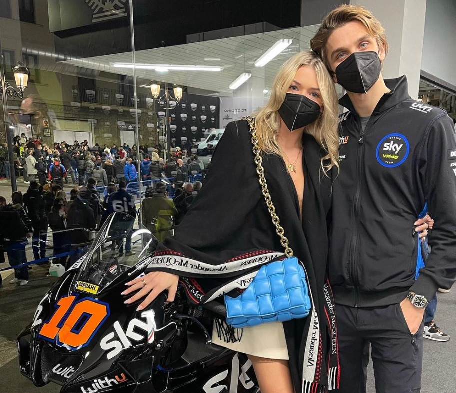Do Not Want To Lose With Bastianini Luca Marini Also Collaborates With His Girlfriend When Showing Off A New Motorbike Okezone Sports Netral News