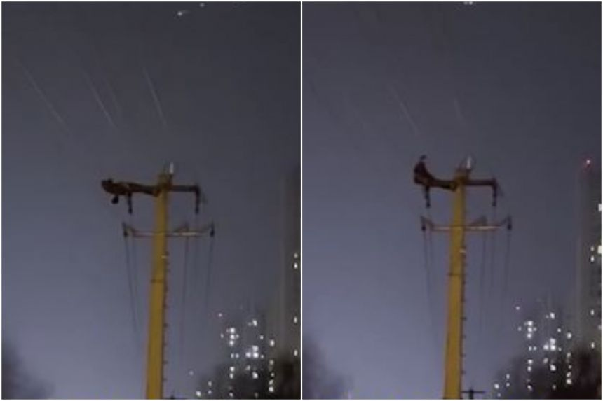 https: img.okezone.com content 2021 02 24 18 2367307 pria-ini-sit-up-di-atas-tiang-listrik-ribuan-rumah-alami-listrik-padam-7arYho0zDu.jpg