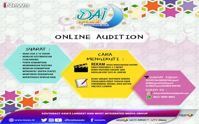 https: img.okezone.com content 2021 03 03 614 2371368 inews-buka-audisi-dai-spesial-indonesia-2021-cek-persyaratan-dan-cara-pendaftarannya-di-sini-lr0yCAysZR.jpg