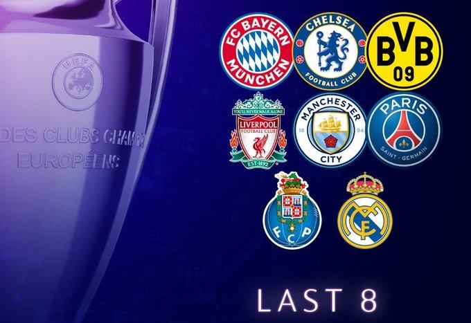 8 Tim yang Lolos ke Perempatfinal Liga Champions