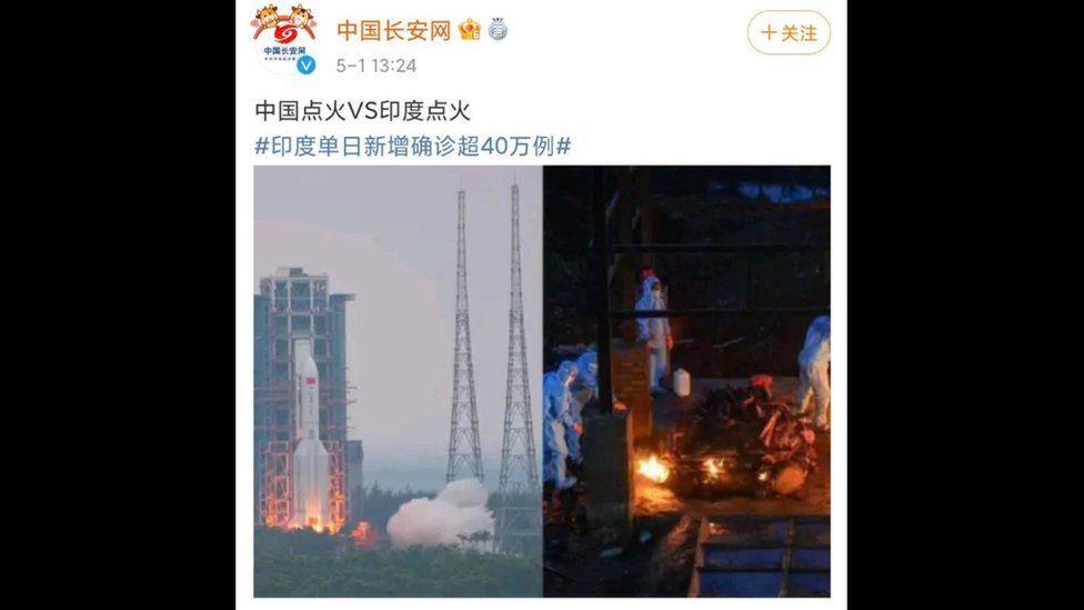 https: img.okezone.com content 2021 05 03 18 2404561 sandingkan-foto-peluncuran-roket-dengan-kremasi-korban-covid-19-di-india-postingan-ini-tuai-kemarahan-XQo4veVtfi.jpg