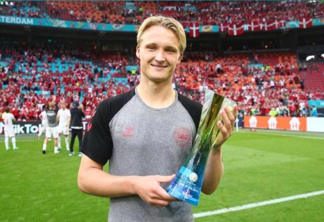 Man of the Match Timnas Wales vs Denmark: Kasper Dolberg : Okezone Bola