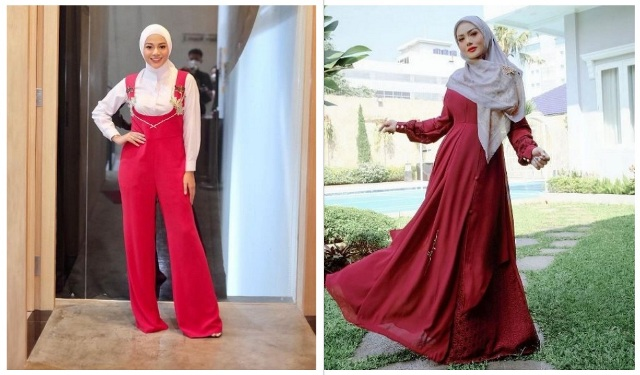 https: img.okezone.com content 2021 07 08 617 2437766 adu-gaya-hijab-krisdayanti-vs-aurel-hermansyah-selera-warnanya-sama-lho-VmDogjkVEA.jpg