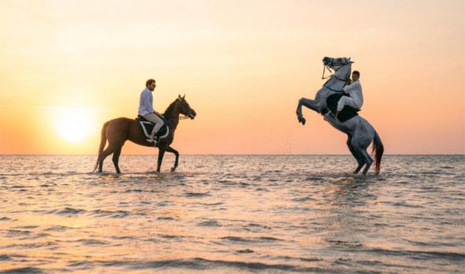 https: img.okezone.com content 2021 09 04 408 2466079 serunya-berburu-sunset-sambil-menunggang-kuda-di-pantai-jeddah-7qDz3jxIKu.jpg