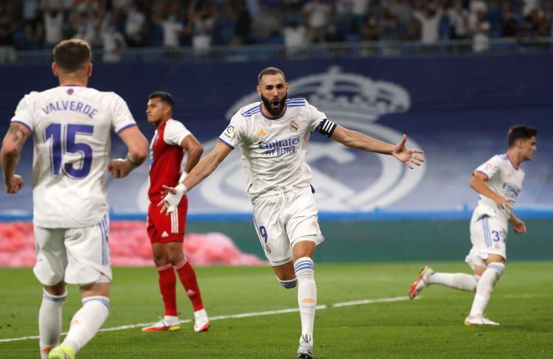 Hasil Real Madrid vs Celta Vigo di Pekan Keempat Liga Spanyol 2021-2022:  Benzema Hattrick, Los Blancos Menang 5-2 : Okezone Bola