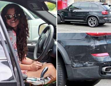Kendarai BMW X5 Selena Gomes Senggolan