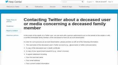 Twitter Diminta Hapus Gambar Orang Meninggal