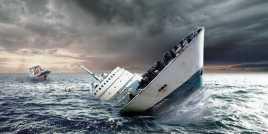 Kapal Tenggelam di Sungai Siak Pekanbaru