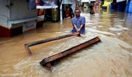 Ratusan Rumah Terendam Banjir di Karawang