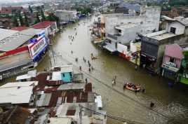 Banjir di Baleendah Bandung Meninggi