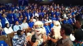 Diarak Hanoman, Hatta Rajasa Disambut Gemuruh di Kongres PAN