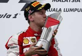 Kemenangan Perdana Vettel untuk Ferrari