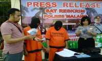 Polisi Tangkap Tangan Pengguna Uang Palsu di Malang