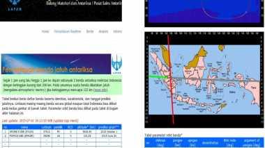 Lewati Sumatera, Benda Angkasa Lintasi Langit Indonesia Lagi