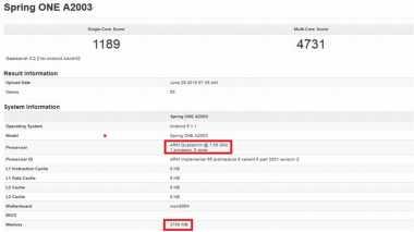 Seri OnePlus Two RAM 3 GB Masuk Tes GFXBench