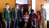 Mahasiswa USU Bantu Korban Erupsi Sinabung