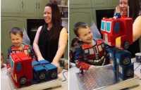Keren, Birthday Cake Ini Berubah Jadi Robot Transformers